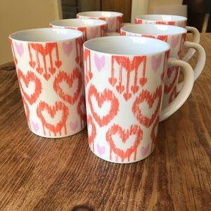 Pottery Barn mugs (6)